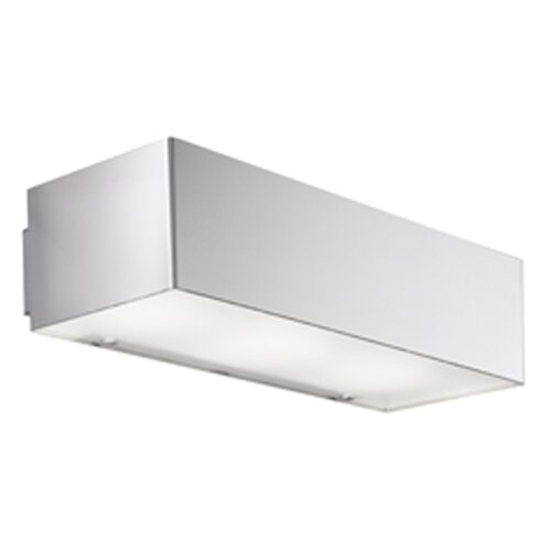 Zaneen Lighting Domino Inox Three Light Flush Mount  / Wall Sconce Strip Light in Stainless Steel