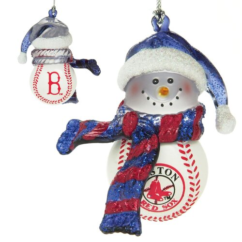 MLB Striped Acrylic Snowman Baseball