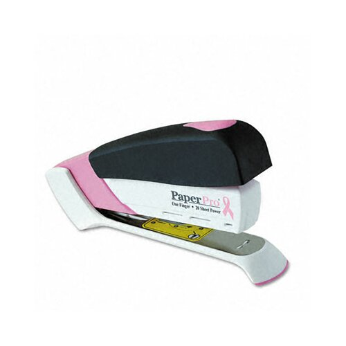 Accentra, Inc. Paperpro Pink Ribbon Desktop Stapler, 20-Sheet Capacity