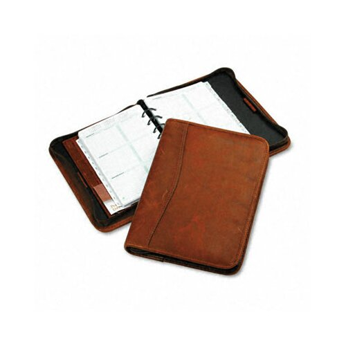 "Day-Timer® Aviator Cowhide Leather Zippered Organizer Starter Set, 5.5"" Wide"