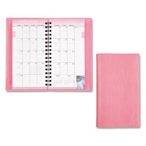 "Day-Timer® Planner,Wirebound,2PPM,3 -1/2""x6-1/2"",Vinyl Cover/Pink, 2014"