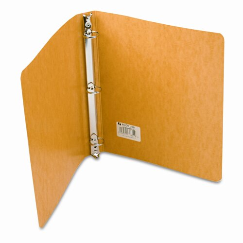 Acco Brands, Inc. Recycled Presstex Round Ring Binder, 1in Capacity, Yellow