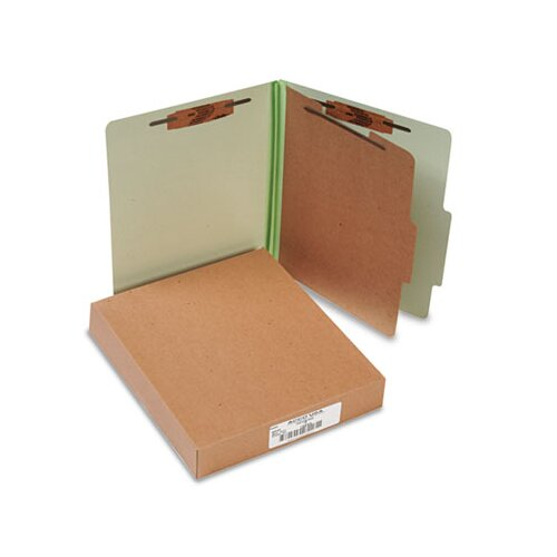 Acco Brands, Inc. Pressboard 25-Pt. Classification Folder, Letter, 4-Section, 10/Box