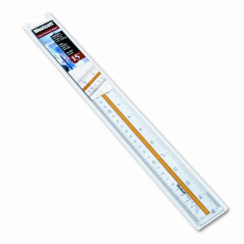 Acme United Corporation Westcott Acrylic Data Highlight Reading Ruler with Tinted Guide