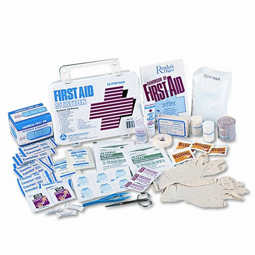 Acme United Corporation First Aid Kit for 50 People, 300 Pieces, Plastic Case