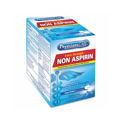 Acme United Corporation Physicianscare Non Aspirin Acetaminophen Medication, 50 Doses