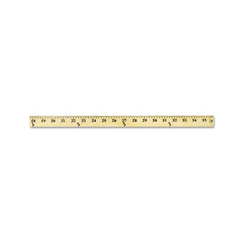 Acme United Corporation Westcott Wood Yardstick with Metal Ends