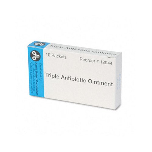 Acme United Corporation Antibiotic Ointment, Refill, 10 Tubes Per Box