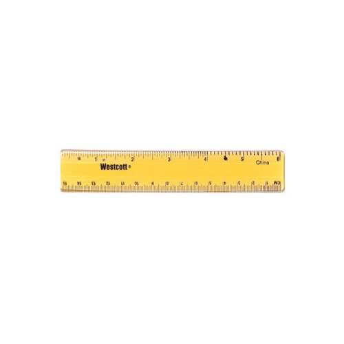 Acme United Corporation Plastic Ruler 6 In