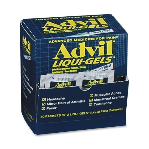 Acme United Corporation Advil Liqui-Gel (50 Packets of 2)