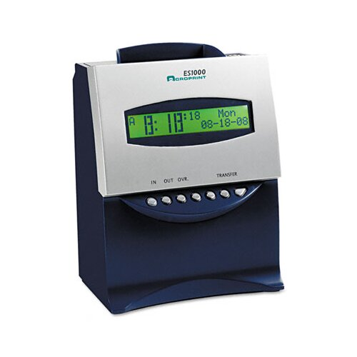 Acroprint Time Recorder Es1000 Totalizing Digital Automatic Payroll Recorder/Time Clock