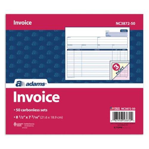 Adams Business Forms 2 Part Carbonless Invoice Unit