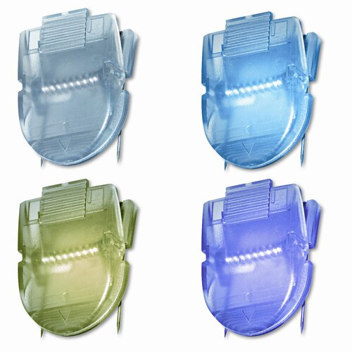 Advantus Corp. Fabric Panel Cubicle Wall Clips, Metallic Colors, 20 per Pack