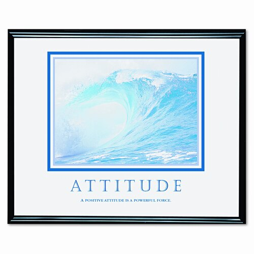 Advantus Corp. 'Attitude/Waves' Framed Photographic Print