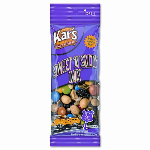 Advantus Corp. Kar'S Nuts Caddy, Sweet 'N Salty Mix, 2 Oz Packets, 24 Packets/Caddy