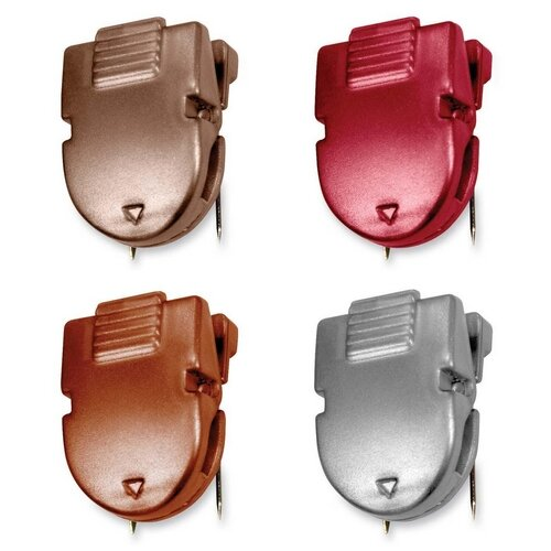 "Advantus Corp. Panel Wall Clips, 40Sheets, 1/2""x1""x1-3/8"", 20 per Box, Diesel Colors"