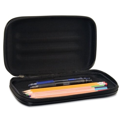 Advantus Corp. Innovative Storage Designs Large Soft-Sided Pencil Case, Fabric with Zipper Closure