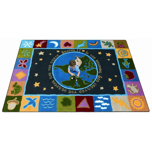 Joy Carpets Faith Based In the Beginning Kids Rug