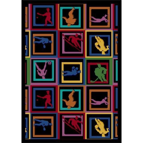 Joy Carpets Sports Let the Games Begin Novelty Rug