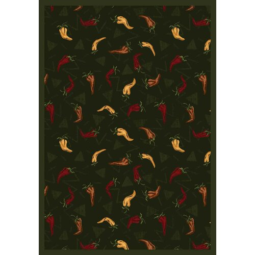 Joy Carpets Whimsy Jalapeno Fiesta Emerald Novelty Rug