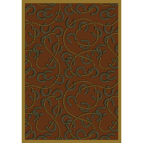 Whimsy Rodeo Rust Rug