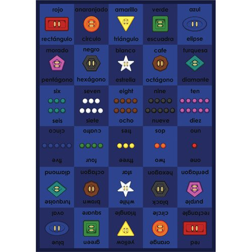 Joy Carpets Educational Button Button Kids Rug
