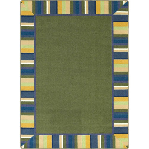 Joy Carpets Just for Kids Clean Bold Green Area Rug