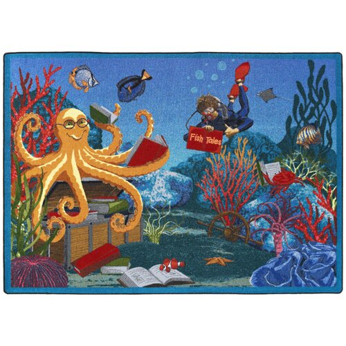 Joy Carpets Educational Fish Tales Kids Rug