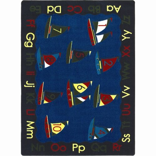 Joy Carpets Educational Smooth Sailing Kids Rug