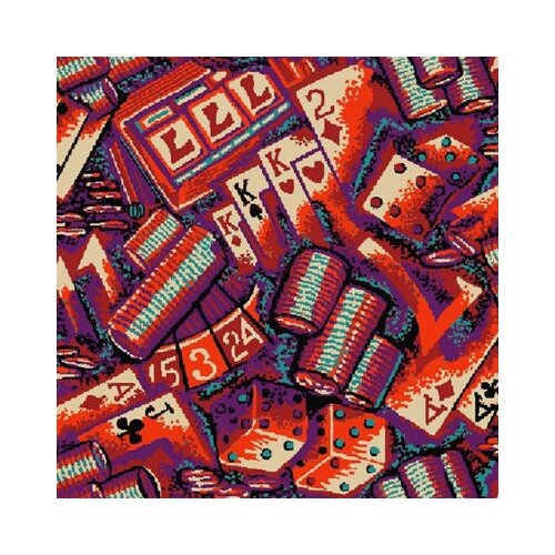 Gaming and Entertainment Monte Carlo Novelty Rug