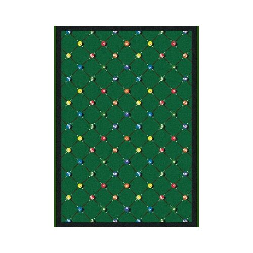 Sports Green Billiards Novelty Rug