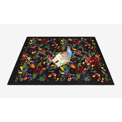 Joy Carpets Just for Kids Essentials Splatter Paint Rug