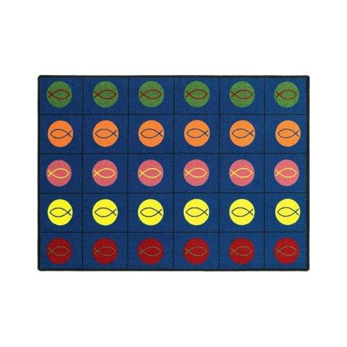 Joy Carpets Faith Based Circles and Symbols Kids Rug