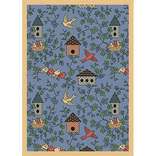 Joy Carpets Nature Blue Sweet Tweet Novelty Rug