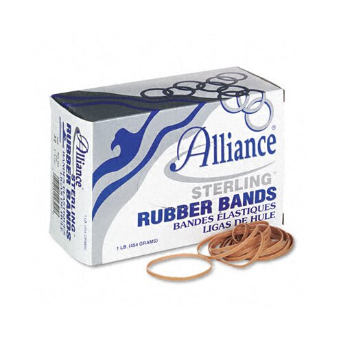 Alliance Rubber Sterling Ergonomically Correct Rubber Bands, #32, 3 X 1/8, 950 Bands/1Lb Box