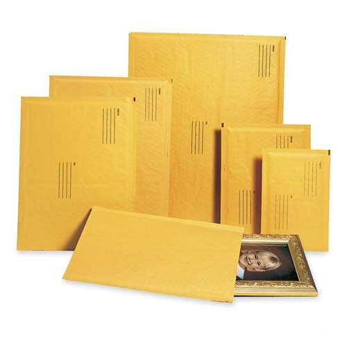 "Alliance Rubber Envelopes,No. 000,Bubble Cushioned,4""x8"""