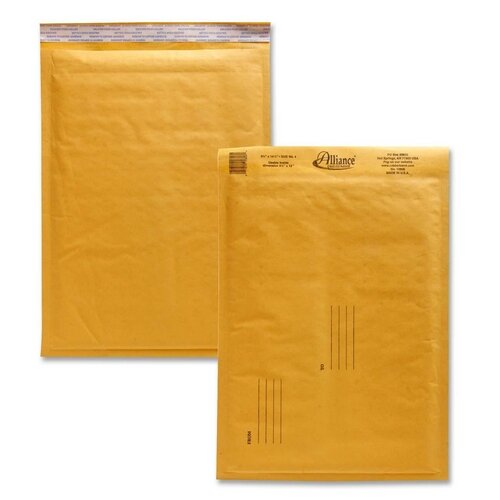 "Alliance Rubber Envelopes,No. 4,Bubble Cushioned,9-1/2""x14-1/2"""