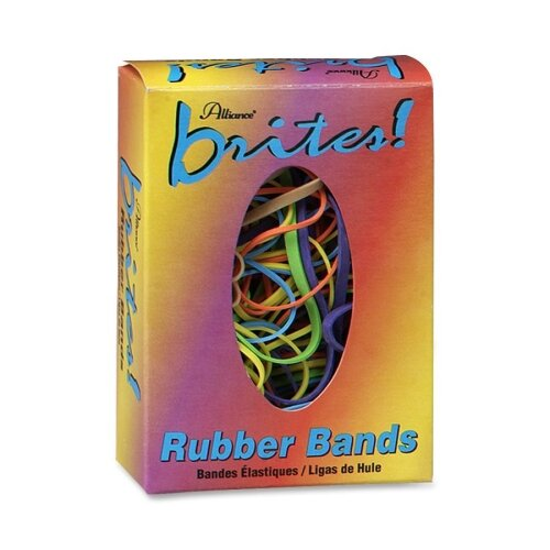 Alliance Rubber Rubber Bands, 1-1/2 oz., Assorted Sizes/Colors
