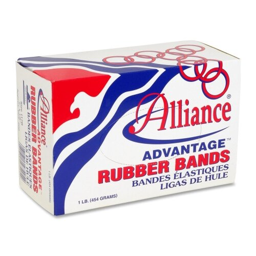 "Alliance Rubber Rubber Bands, Size 8, 1 lb., 7/8""x1/16"", Natural"