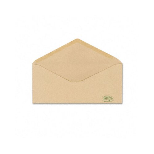 AMPAD Corporation Earthwise Envirotech Recycled Envelope, V-Flap, #10, 500/Box