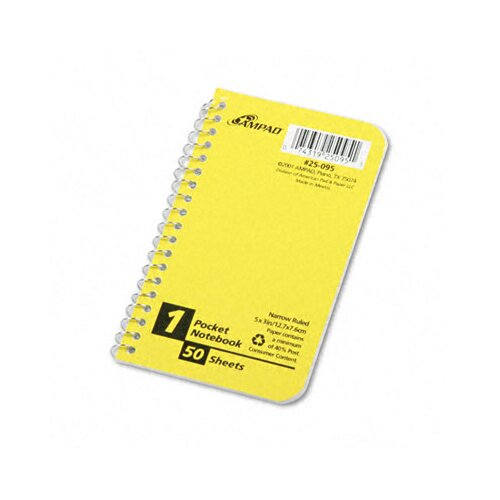 AMPAD Corporation Recycled Memo Books in White