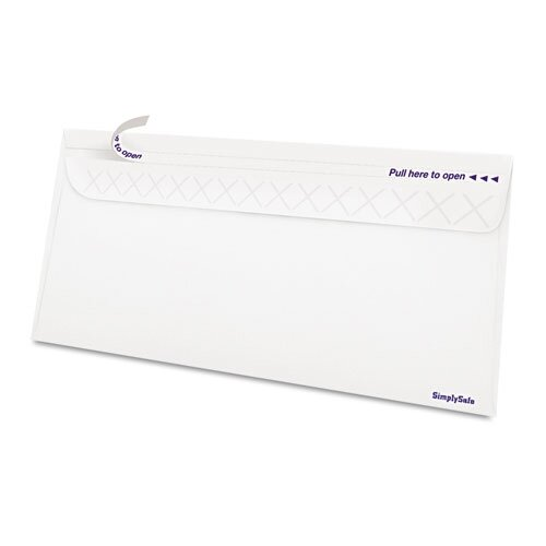 AMPAD Corporation Gold Fibre SimplySafe Security Envelope in White (Box of 500)