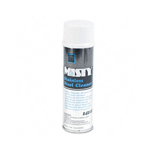 AmRep Misty Stainless Steel Cleaner & Polish, 15 Oz. Aerosol
