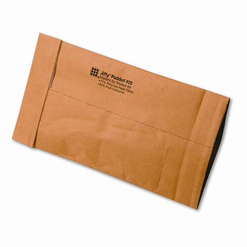 Sealed Air Corporation Jiffy Padded Mailer, Side Seam, #00, 250/Carton