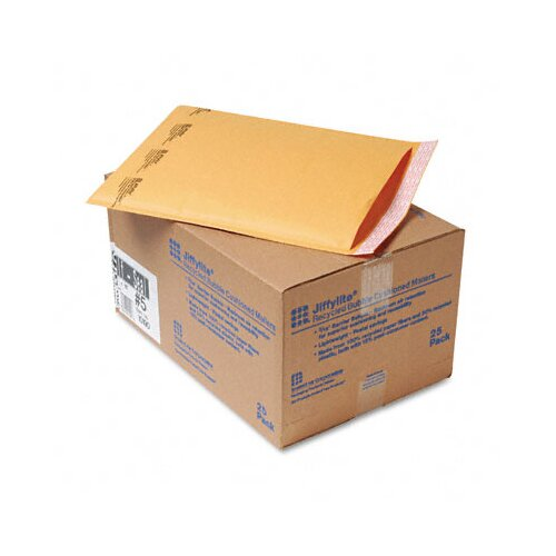 Sealed Air Corporation Jiffylite Self-Seal Mailer, Side Seam, #5, Golden Brown, 25/carton