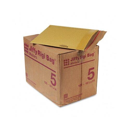 Sealed Air Corporation Jiffy Rigi Bag Mailer, Side Seam, #5, 150/Carton