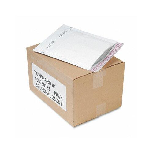 Sealed Air Corporation Jiffy TuffGard Self-Seal Cushioned Mailer, Side Seam, #1, White, 25/carton
