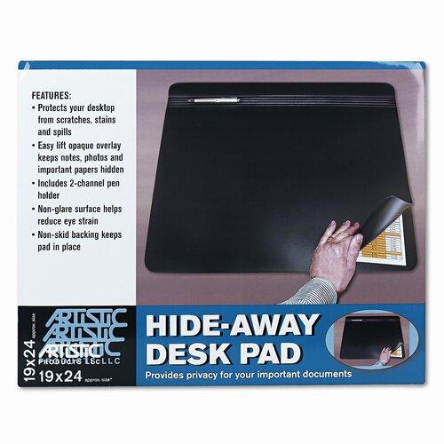 Artistic Products LLC Hide-Away Pvc Desk Pad, 24 X 19