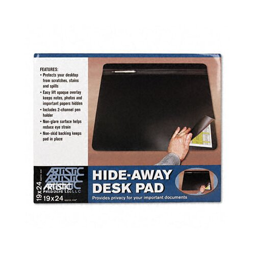 Artistic Products LLC Hide-Away Pvc Desk Pad, 24 X 19