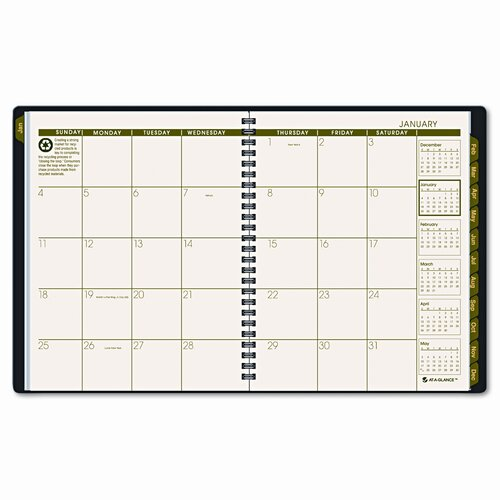 At-A-Glance Recycled Classic Monthly Large Desk Planner, 12 Months (Jan-Dec), Green Cover, 2014